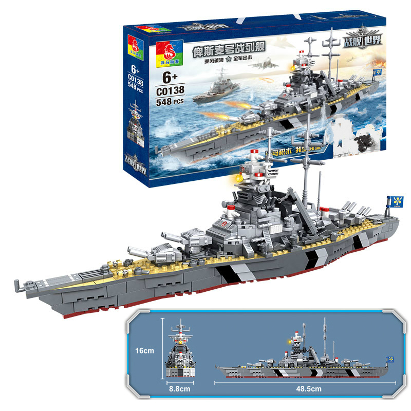 de construcao navio guerra modelo ww2 02