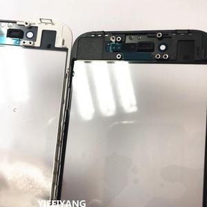 Image 3 - 10 sztuk jakości zimnej prasy przednia szyba zewnętrzna z OCA z ramką dla iphone 5 6 6plus 6s plus 7 7plus 8 plus X szkło + rama + OCA