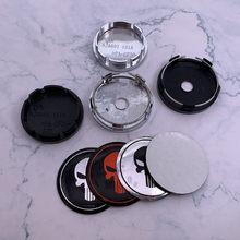 4 pçs 56mm ou 60mm crânio o emblema do carro logotipo do punisher roda centro hub tampa aro à prova de poeira emblema reequipamento decoração capa adesivo