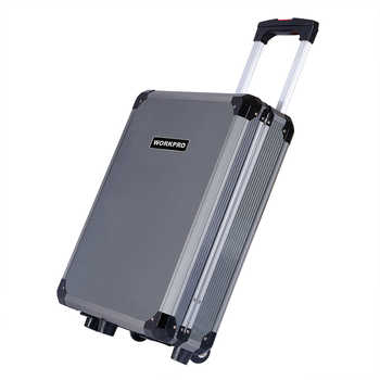 WORKPRO 111PC Trolley Case Tool Set Aluminum Box Set Home Tool Kits