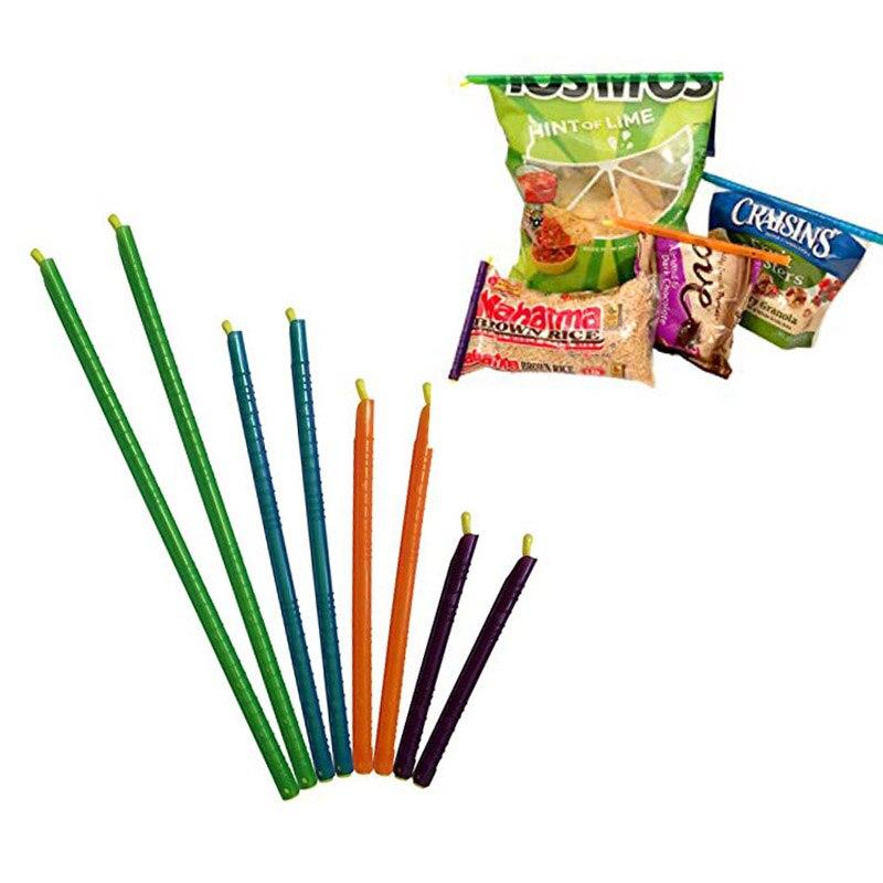 8pcs  Anylock Gripstick Seal Stick Storage Chips Bag Fresh Food Snack Grip Kitchen Sealing Clips Coffee Bag Clips Sealer