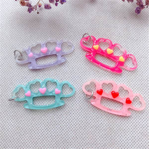 Keychain Pendant Knuckle Necklace Making-Accessories Flatback Resin Kawaii DIY 10pcs