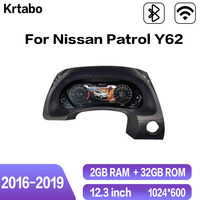Krtabo For Patrol Y62 2016 2017 2018 2019 Car LCD Instrument Panel Cluster Android GPS Navigation LCD Dashboard 12.3 inch