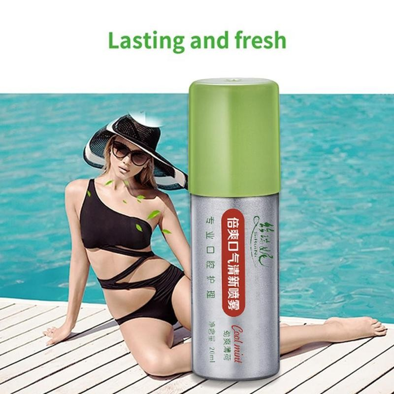 20ml Peppermint Breath Freshener Oral Spray Deodorizing Care Spray Mint Bad Odor Halitosis Treatment Clean Mouth Drop Shipping 2