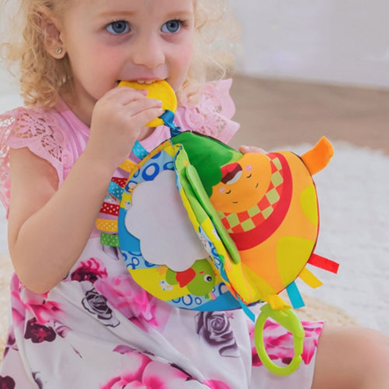 Baby Kids 3D Intelligence Development Cloth Bed Book Flower Educational Toy Colorful Visual Experience Micro-fiber Cloth Book