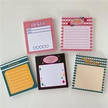 50 folhas ins rosa quente agenda diária bloco de memorando para fazer a lista de tempo pegajoso agenda planejador material escolar de escritório artigos de papelaria