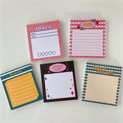 50 Sheets Ins Hot Pink Daily Schedule Memo Pad To Do List Time Sticky Note Schedule Planner Office School Supplies Stationery