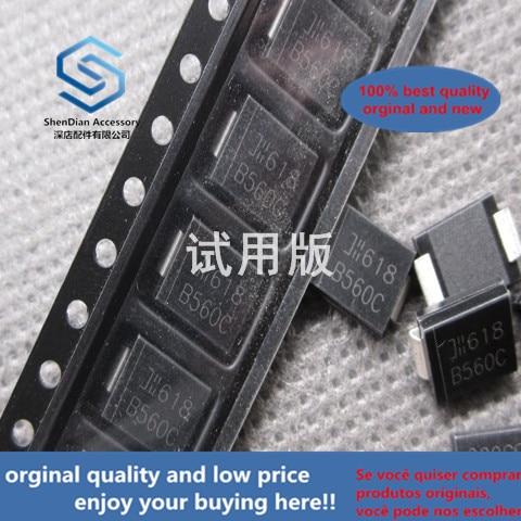 30pcs 100% Orignal New B560C B560C-13-F SMC SMD Schottky Diode 5A 60V Diode