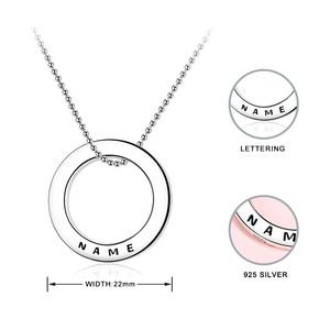 Image 5 - Collier en argent Sterling 925 avec cercle personnalisé personnalisation collier nom gravé cadeau saint valentin