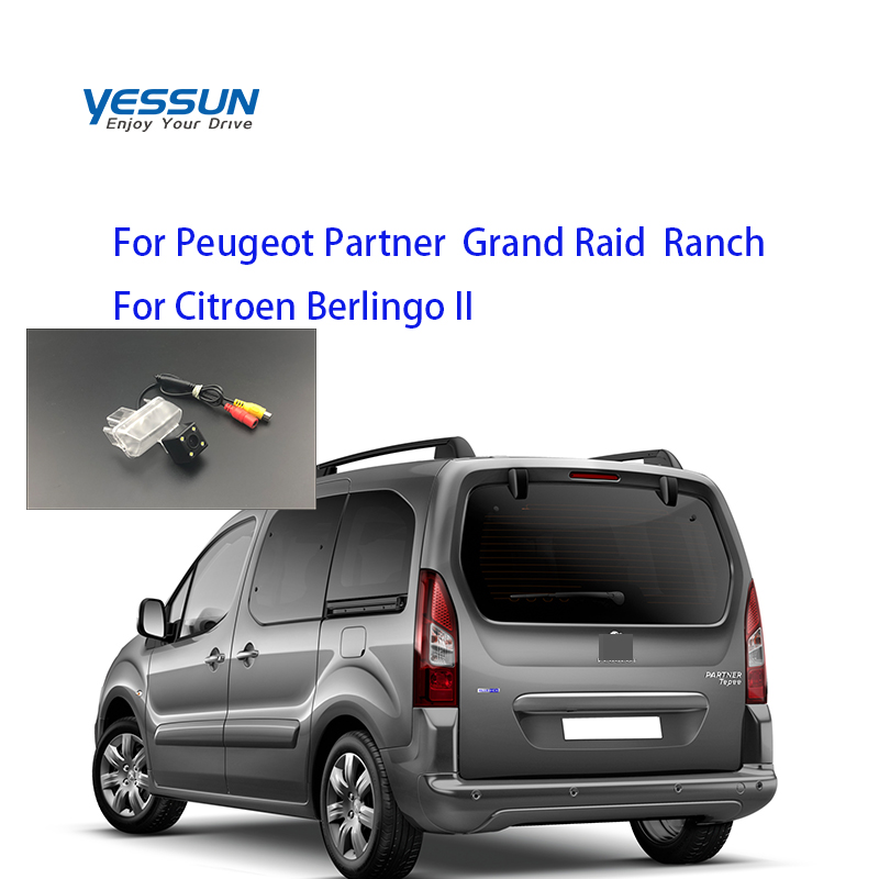 Yessun Special Car Rear View Reverse Backup Camera Rearview Parking For Peugeot Partner  Grand Raid  Ranch Citroen Berlingo II