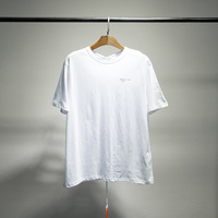 Off Popular Brand Ow3d Sketch Arrowhead Printing Short sleeved T shirt European Version of the Large Size Loose Fit Men And Wome