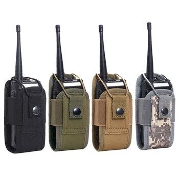 Bolsa táctica Molle 1000D para Walkie Talkie, bolsa de cintura, soporte portátil para interfono, bolsa de transporte para caza y Camping