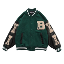 Women Coats and Jackets High Street Hip Hop Baseball Uniforms Street Casual Coat Loose Stitching Jacket Tops 2021