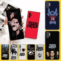 NBDRUICAI американский фильм подросток Волк новое поступление черный сотовый телефон чехол для Samsung Note 3 4 5 7 8 9 10 pro M10 20 30