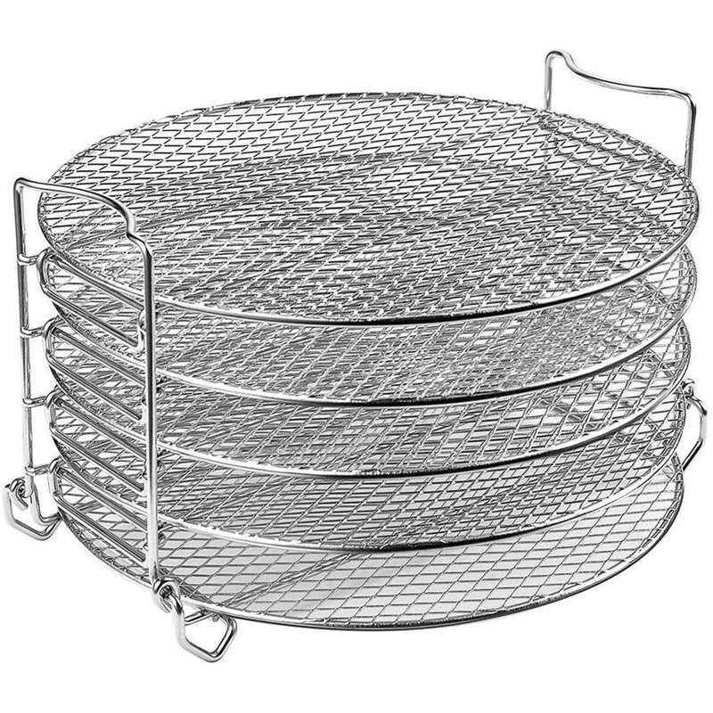 For Dehydrator Stand, Grill Stand Air Fryer With Five Stackable Layers Food Grade For Dehydrator Rack Stainless Steel Stand Acce