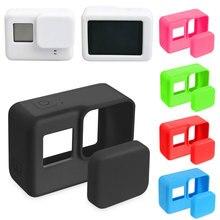 ゴープロアクセサリーアクションカメラケース保護シリコンケース皮膚 + レンズキャップカバー移動プロヒーロー 5 6 7 ブラックヒーローカメラ