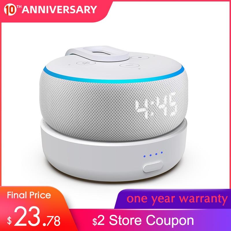GGMM D3 Battery Case For Amazon Alexa Echo Dot 3 Battery Charging For Echo Dot (3rd Gen) With 5200mAh 8 Hours Playing Time