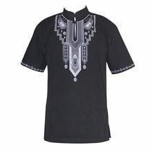 Вышивка slim hippie dashiki мусульманские футболки с коротким