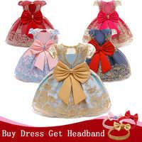 Vestido elegante para niña recién nacida, vestido de baile con tutú de flores para fiesta de cumpleaños de 1 año, vestido de bautizo infantil, ropa para niña pequeña