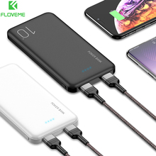 FLOVEME Power Bank 10000mAh Powerbank For Xiaomi Mi iphone D