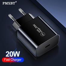 """20W פ""""ד מהיר טעינה עבור IPhone 12 11 פרו מקס XS XR USB C כוח מתאם מטען סוג C טעינה מהירה QC3.0 לxiaomi Mi10 Huawei"""