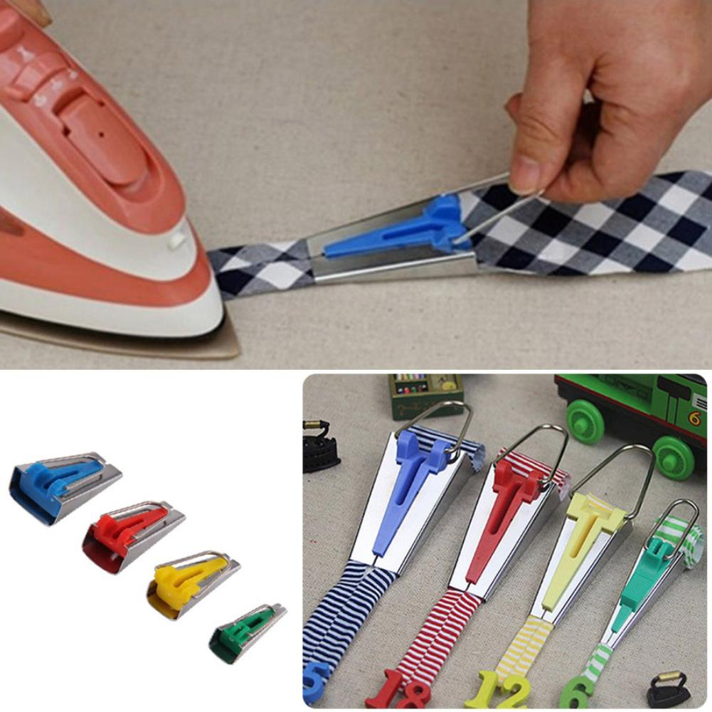 6/12/18/25mm Splicing Cloth Bias Binding Tape Maker Fabric Quilting Sewing Bias Tape Maker Binding Tool Sewing Accessories(China)
