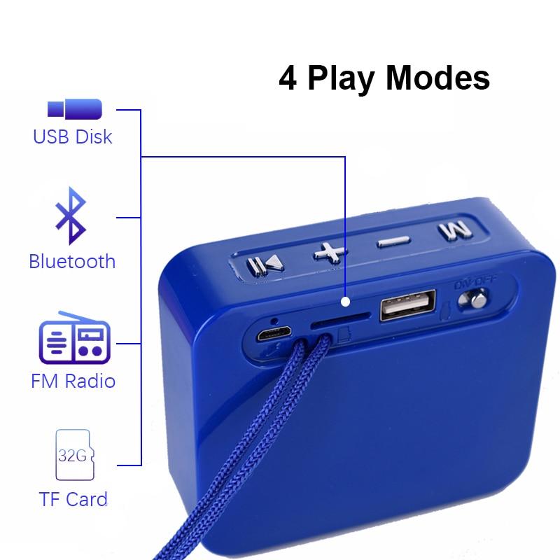 Мини bluetooth динамик квадратный открытый музыкальный плеер