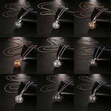 New Mexico Chime Hollow Vintage Locket Pendant Jewelry Music Ball Essential Oil Pregnancy Snowflake Style Sweater Chain Necklace