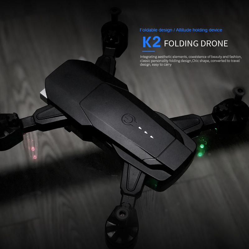 SHAREFUNBAY K2 Drone 4k HD Wide Angle Camera 1080P WiFi fpv Drone Dual Camera Quadcopter Height Keep Drone Camera 20 min flight