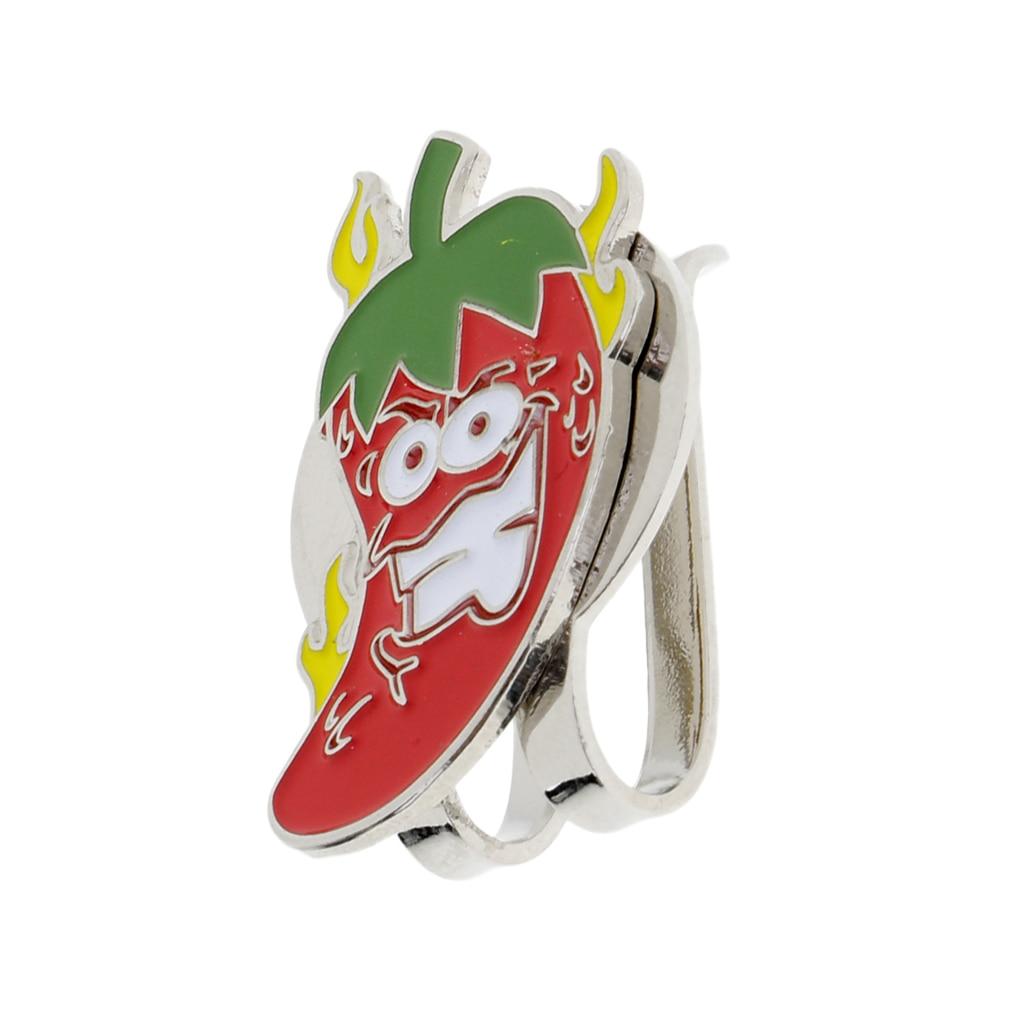 Cartoon Chilli Design Magnetic Golf Cap Visor Hat Clip-on Golf Ball Marker