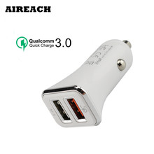 AIREACH Car USB Charger Quick Charge 3.0 2.0 Mobile Phone Charger 2 Port USB Fast Car Charger for iPhone Samsung Tablet Car-Char цена и фото