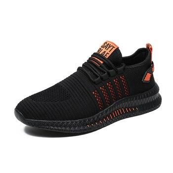 Schwarz - Orangene Streifen