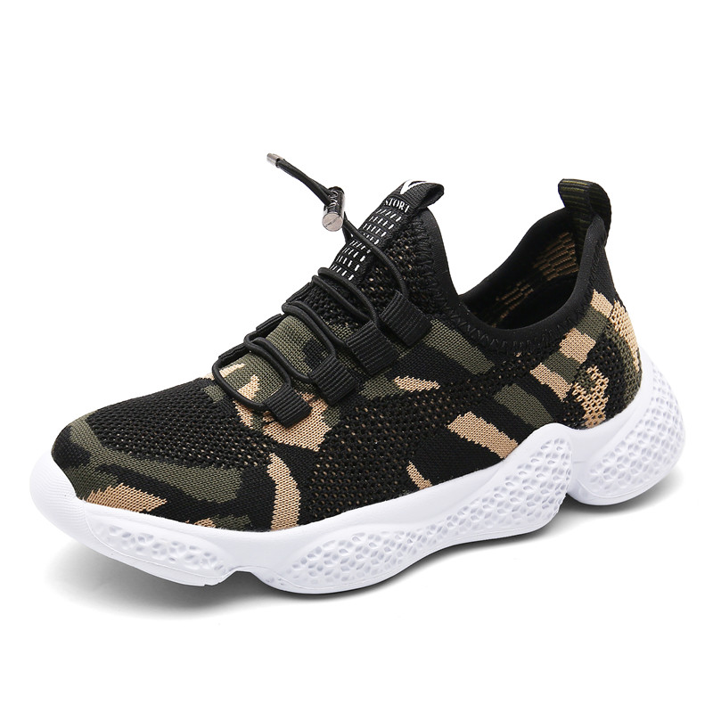 Spring Kids Sneakers Boys Shoes Girls Shoes Outdoor Mesh Sprots Shoes Children Sneakers Walking Footwear Slip On Flat Platform