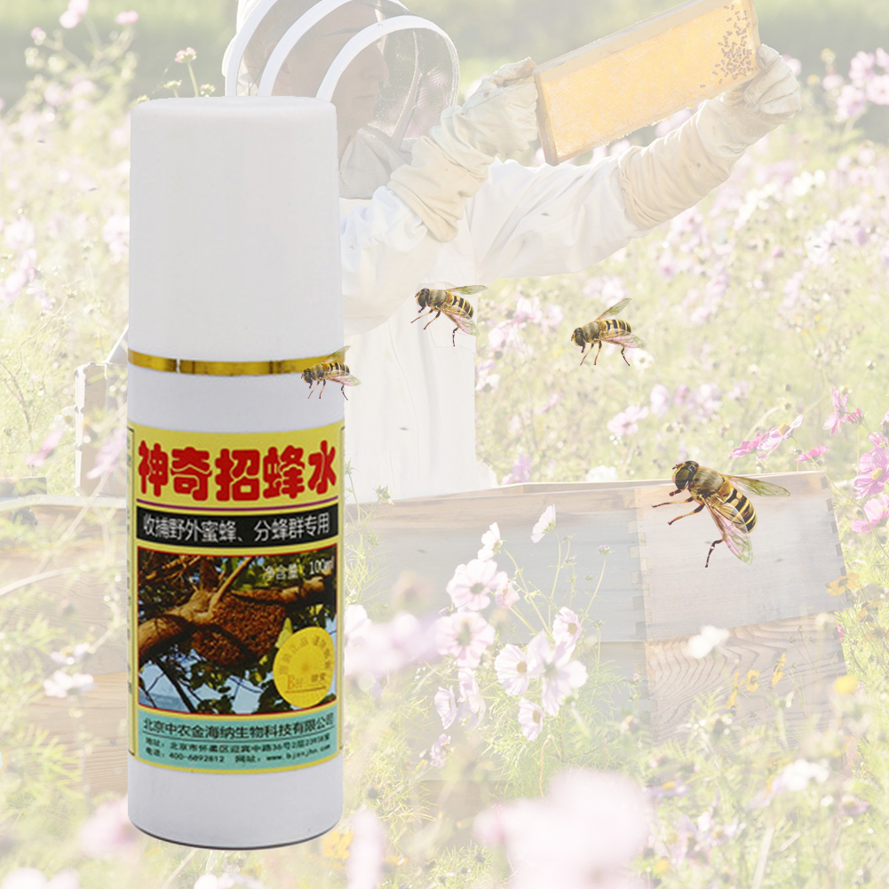 100ml Beekeeping Tool Lure Catcher Attractant Safe Trap Insect Temptation Bait Outdoor Honey Bee Hive Portable Swarm Commander