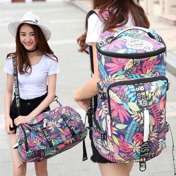 backpack travel bag for women waterproof Canvas duffle flower printing luxury brand weekend