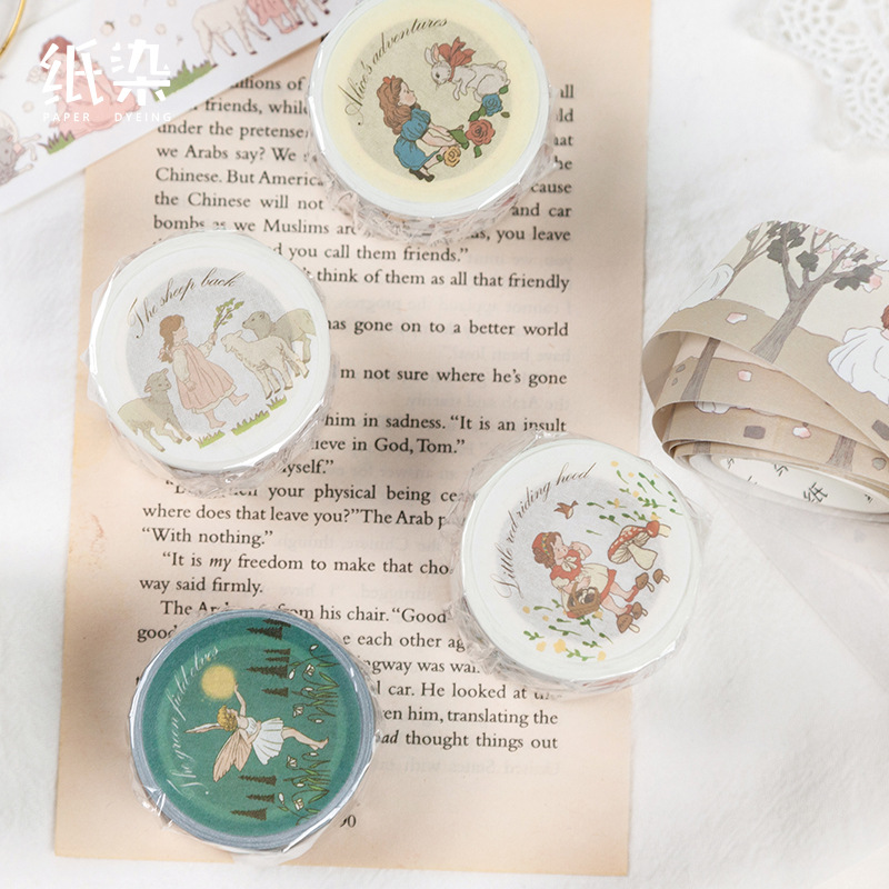 Kawaii Bear Forest Girl Bullet Journal Fairy Tale Washi Tape Adhesive Tape DIY Scrapbooking Sticker Label Masking Tape