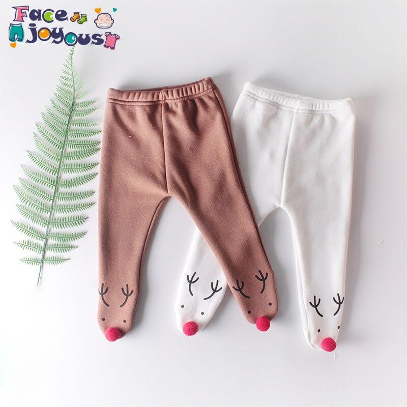 Baby Girl Tights Princess Christmas Elk Printing Newborn Baby Girls Stocking Pantyhose Knitted Infant Children Clothing