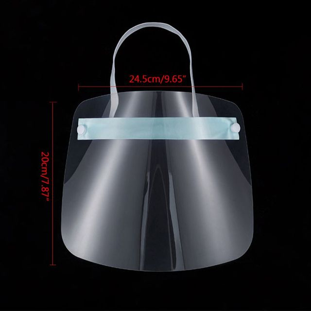 All-Purpose Safety Face Shield Clear Full Face Mask Reusable Breathable Anti-Saliva Protective Hat Windproof Dustproof Shield 2