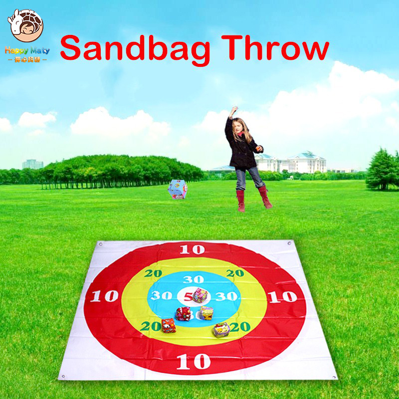 Kids Sandbag Throwing Disc Game Target Throwing Plate Team Parent-child Outdoor Interactive Toy  Fun Games Props For Children