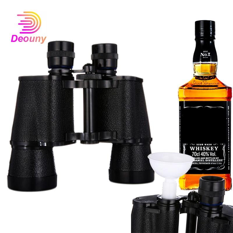 Binoculars Flask Portable Outdoor Travel Double Sided Water Bottle Plastic Black