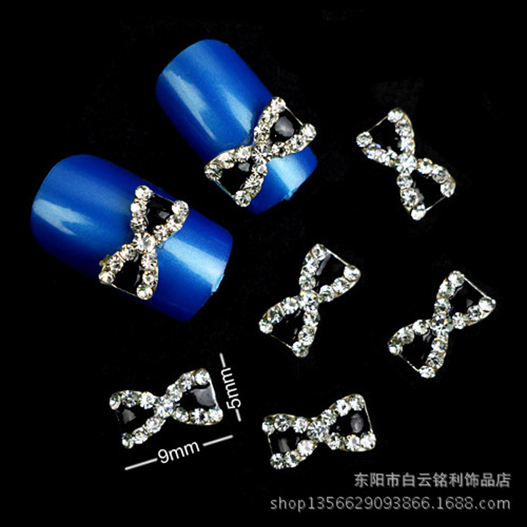 New Style Alloy Nail Ornament Bow Manicure Stickers Nail Sticker Manicure Beauty Mobile Phone DIY Manufacturers Wholesale