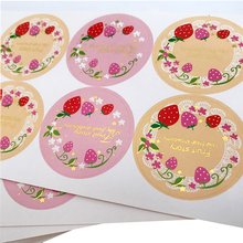 80pcs/lot Lovely Fruit Strawberry Garland Aesthetic Stickers Scrapbooking Stationery Label Sticker Bottle sticker