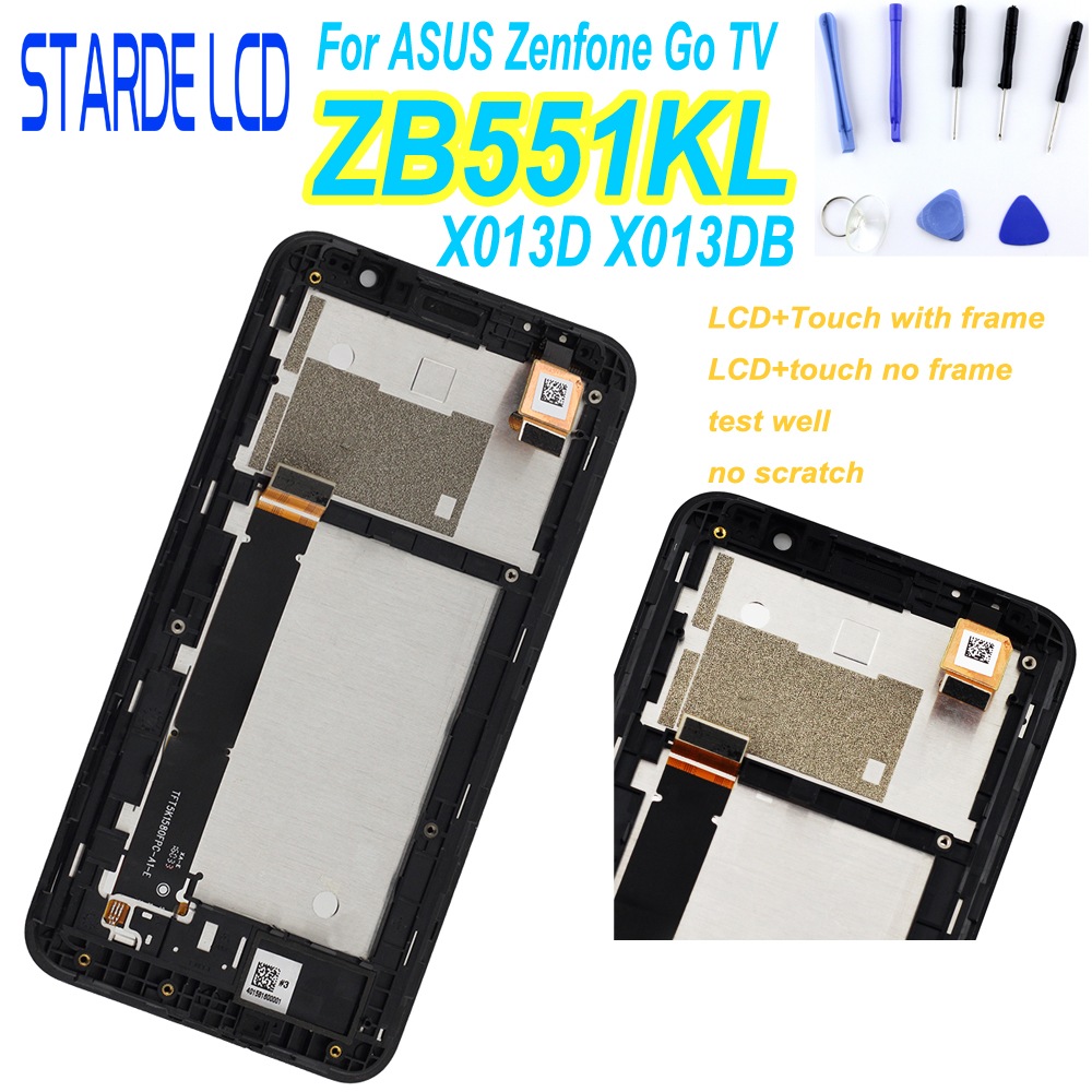 For <font><b>Asus</b></font> Zenfone GO TV ZB551KL <font><b>X013D</b></font> LCD Display with Touch Screen for Zenfone GO ZB551KL X013DB Display Repair Part with Tools image