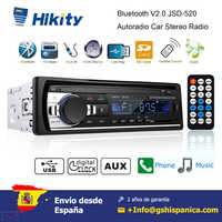Podofo 1 DIN Car radio Mp3 Player Stereo Remote Control Digital Bluetooth Car Audio Music Stereo 12V USB/SD/AUX-IN