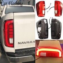 1 para światła tylne dla Nissan Navara Np300 2015 2016 2017 2018 2019 tylne światło Led tylna lampa Parking rewers sygnał hamulca