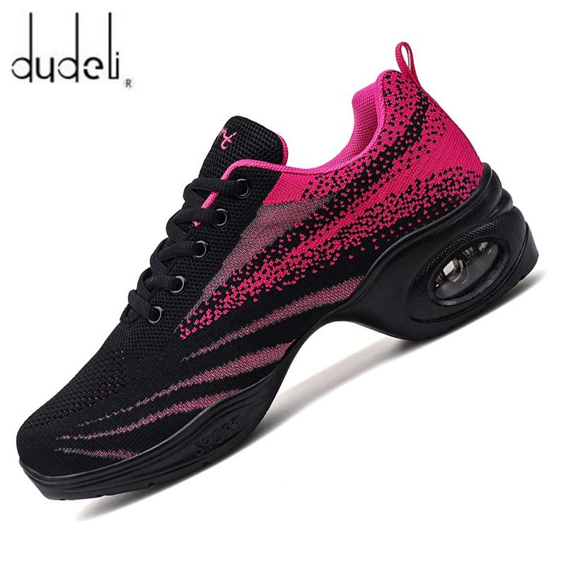 Sneakere Women Dance Practice Shoes Air Design Dance Shoes For Woman Soft Sole Modern Dance Shoes Mesh Ladies Dance Trainers