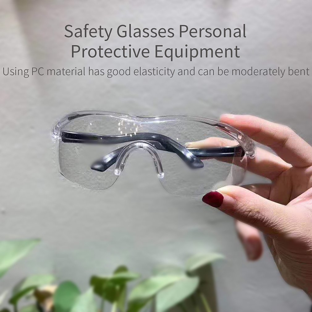 Safety Glasses Spectacles Eye Protection Safety Goggles Anti-Fog Anti-Scratch Clear Chemical Splash Goggle Eyewear  Work Outdoor