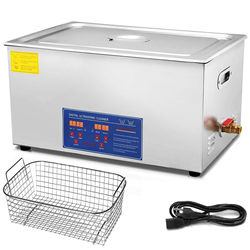 30L Digital Heated Timer Ultra sonic Cleaner Tank Bath Ultra Sonic Cleaning Machine Industry Stainless Steel Equipment
