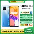 В наличии Realme 8 Pro глобальная версия смартфона 8 ГБ 128 6,4 ''Дисплей 108MP ультра Quad Камера Snapdragon 720G 4500 мА/ч, 50 Вт NFC