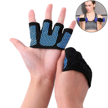 Weight Lifting Half Finger Glove Anti-Slip Bicycle Riding Gloves Breathable Barbell Fitness Yoga Finger Glove Hand Protector недорого